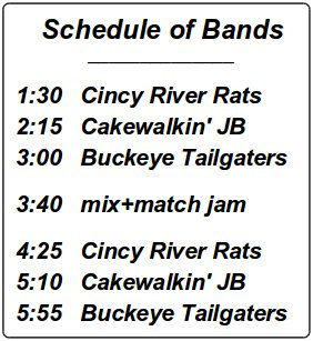 Schedule of Bands